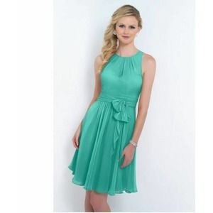 Alexia Fit Flare Dress Sz 16 Green Bow NEW